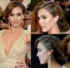 evening hairstyles for over 50s get the look jessica alba s 50s met gala updo updo wedding and