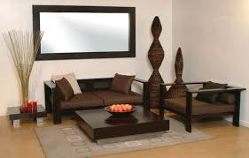 Wooden Armchairs Living Room Modern Living Room Idea With Dark Brown Wooden