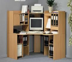 Cherry Wood Corner Computer Desk Furniture Chic Corner Wood Computer Desk For Efficient Space