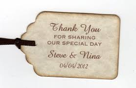 wedding tags 50 thank you tags gift tags wedding favor tags shower favor
