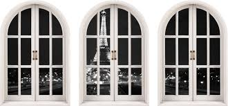 huge arched window eiffel tower paris view wall stickers mural shop categories