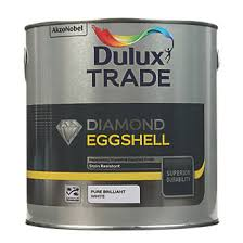 dulux trade diamond quick drying eggshell paint pure brilliant