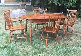 ethan allen dining room sets vintage nutmeg ethan allen dining room set four chairs made in