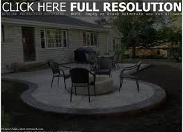 Concrete Backyard Ideas Concrete Backyard Design Backyard Stamped Concrete Patio Ideas
