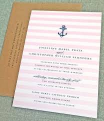 Wedding Invitations Nautical Theme - josseline nautical wedding invitation sample pink ombre stripes