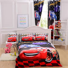 pixar cars bedding set mcqueen bedroom curtains duvet cover sheet