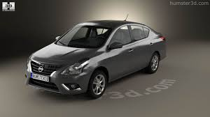 nissan tiida 2015 sedan 360 view of nissan versa sense 2015 3d model hum3d store