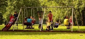 flexible flyer play park metal swing set four passenger lawn swing