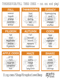 game thanksgiving printable thanksgiving fall taboo game 54 cards pdf file