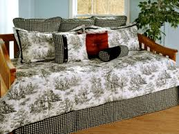 Black And White Toile Bedding Jamestown Black U0026 White Toile Daybed Bedding Comforter Set