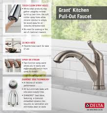 Delta Touch Kitchen Faucets by Delta Grant Single Handle Pull Out Sprayer Kitchen Faucet In