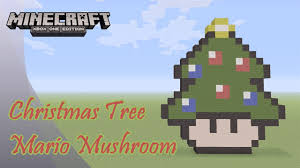 minecraft pixel art tutorial and showcase christmas tree mario