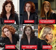 Black Widow Meme - black widow s hair in each movie marvelstudios
