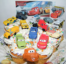 cars cake toppers disney pixar cars 3 deluxe cake toppers cupcake