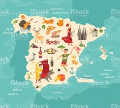 Espana Map Spain Map Vector Illustrated Map Of Spain For Children