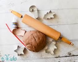 gingerbread salt dough ornament recipe and tutorial tikkido