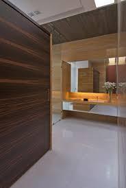 Powder Room With Pedestal Sink Soaker Tub On Ceramic Tile Frame Powder Room Designs With Pedestal