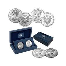 Proof And Uncirculated Th Anniversary Silver Eagle Dollar - Silver eagle furniture