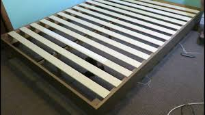 Wood Platform Bed Frames How To Assemble A Zinus 12 Deluxe Wood Platform Bed Frame