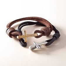 cross bracelet leather images Cross hook on leather bracelet james avery