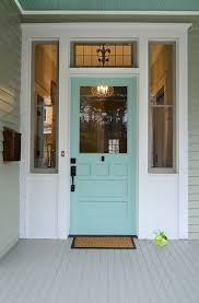Painting Exterior Doors Ideas Turquoise And Blue Front Doors With Paint Colors House Of