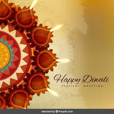 diwali greeting with ornaments vector free