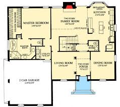 colonial homes floor plans plan 32547wp colonial home with floor master open floor