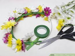 flower crowns 3 ways to make a flower crown wikihow