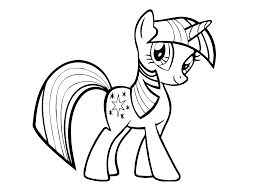 my little pony twilight sparkl coloring pages for kids printable