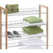 Walmart Metal Shelves by Buy Honey Can Do 4 Tier Wood And Metal Storage Shelf In Cheap