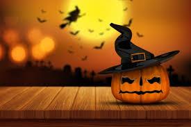 halloween pumpkin wooden table photo free download