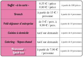 cuisine a domicile tarif tarifs réceptions et buffets sur marseille traiteur aix en provence
