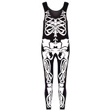 ladies halloween tights womens jersey skeleton bones halloween ladiesbodycon tunic t shirt