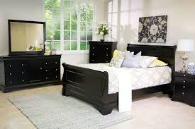 black sleigh bedroom set the versailles queen bed in black mor furniture for less