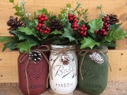 mason jar candles with berries and burlap candles decoration