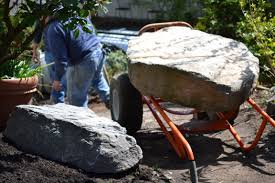 home decor inexpensive landscaping ideas with big rocks for