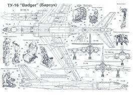 Blueprint Math by Tu 16 Blueprint Tupolew Tu 16 Badger Xian H 6a Pinterest