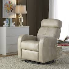amazon com pulaski laurel swivel glider and recliner cream