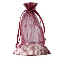 organza drawstring bags 6x9 organza drawstring bags burgundy 10 pack efavormart