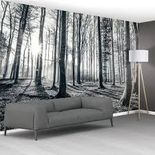 landscape 1wall black and white forest trees mural wallpaper 366cm x 253cm