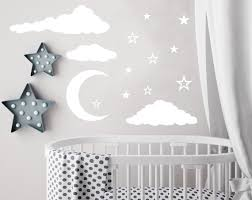 Wall Decor Stickers For Nursery Cloud Wall Decal Moon And Decals Nursery Decor Sky