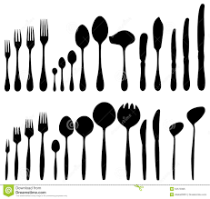 Proper Table Setting by Cutlery Forks Spoons Knives Stock Vector Image 52573395