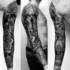 22 best skull sleeve tattoos for images on