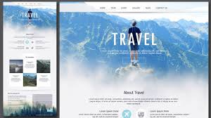Design Home Page Online Design Travel Single Page Website Using Photoshop Youtube