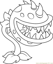 plants vs zombies coloring pages free download chomper coloring