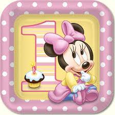 minnie mouse 1st birthday minnie mouse 1st birthday dinner plates 8pk parties4kids