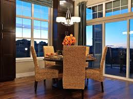Woven Dining Room Chairs Incredible Decorating Ideas Using Rectangular Brown Wooden Vanity