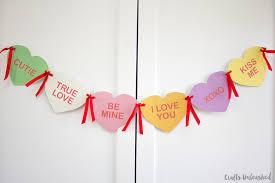 valentines banner diy conversation heart banner crafts unleashed