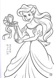 mermaid color pages printable coloring ariel
