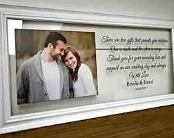 wedding gift photo frame wedding frame parent etsy
